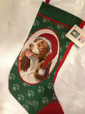 SPRINGER SPANIEL XMAS STOCKING - MANUAL WOODWORKERS - MAKERS OF PICKEN & GIBSON