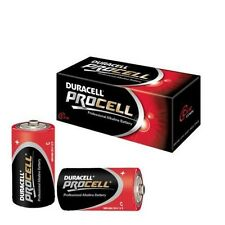 10 x DURACELL PROCELL C SIZE BATTERIES, ALKALINE ,MN1400 LR14 PC1400  DURACELL