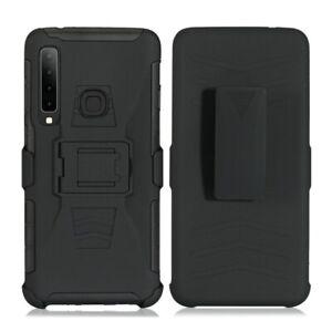 For Huawei P30 lite/NOVA 4E Armor Impact Hybrid Hard Case Belt Clip Holster