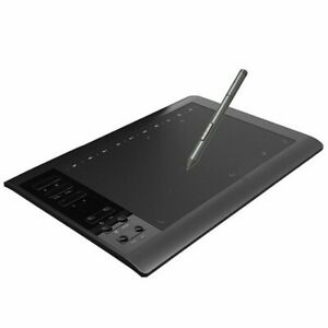 """10x6"""" Drawing Digital Graphics Tablet Pad 12 inch with 12 Hot Keys +Pen kid Gift"""