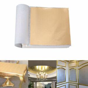 100 Stück Goldfolie Schlagmetall Blattmetall Blattgold Vergoldung Kunst Dekor