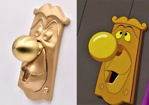 Alice in Wonderland GOLD door knob, working prop, doorknob  key door