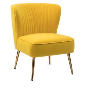 Mid Century Modern Premium Velvet Designer Wingback Chair in 16 colors