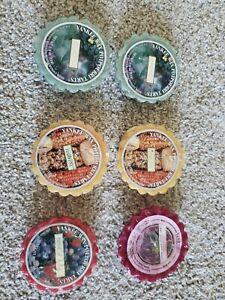 Lot of 6 Yankee Candle Various Scented Wax Melts Potpourri Tarts: Eucalyptus