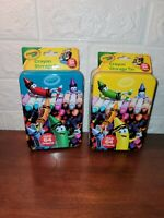 NEW Crayola Tin Storage Boxes (Lot Of 2) Crayons Not Included
