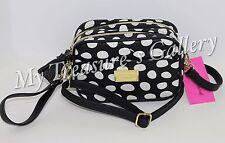 NWT Betsey Johnson Double Zip Camera Purse Crossbody Shoulder Bag Spot