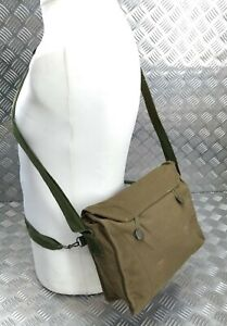 Genuine Vintage Military Issued Khaki Canvas Gas Bag Haversack 1980s Pattern