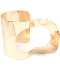 Gold Funky Geometric Cuff Bracelet Wide Gold Bracelet 2 inches Wide Gold Bangle