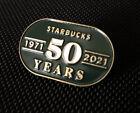 Starbucks Exclusive 50th Anniversary Limited Edition Enamel Pin Rare 2021