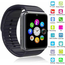 Noir Montre Connectée Smart Watch bluetooth Intelligente Pour Enfant Femme Homme