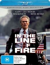 In The Line Of Fire BLURAY Clint Eastwood thriller Movie RARE OUT OF PRINT AUS