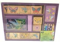 Disney Fairies Tinker Bell Wooden Stamp Set Disney Store Sealed Brand New