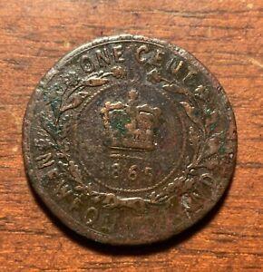 1865 Newfoundland one cent