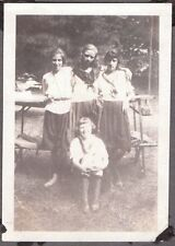 VINTAGE 1921 BUFFALO MILLER PLACE NEW YORK GIRLS CAMPING AT CAMP ALOHA PHOTO
