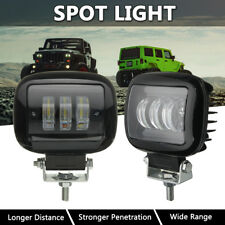 """2x 4.5"""" inch Round LED Work Light Fog Spot Motorcycle Bicycle Truck Driving Bar"""