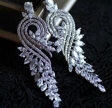 Pendientes Luxus de Circonita AAA Chandelier XXXL Stellux™ Cristales 18k Plt