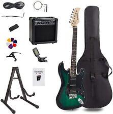 E-Gitarre Display4top Set 20Watt Verstärker Musikinstrument schwarz grün Musik