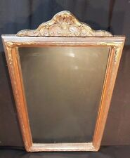 Antique Victorian Style Carved Wood Gilt Mirror w/ Ornate top