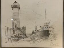 """Usns Mercy Maiden Voyage Barry D. """"Porpoise� Smith Signed Numbered Huron Harbor"""