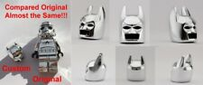 LEGO BATMAN HELMET CHROME SILVER GENUINE CUSTOM HIGHEST BEST QUALITY MONOCHROME
