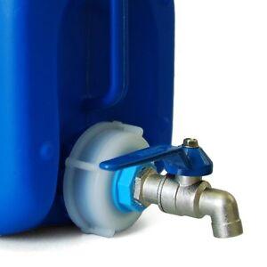 Auslaufhahn für DIN 45/51/61/71 Kanister Metallhahn Wasserhahn Neuware