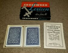 Vintage 1952 Parker Brothers Crossword Lexicon Card Game