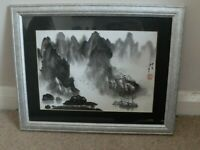 Contemporary Chinese charcoal and ink landscape painting on paper  - no 2