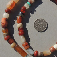 18 inch 46 cm strand selected ancient small agate african stone beads mali #4097