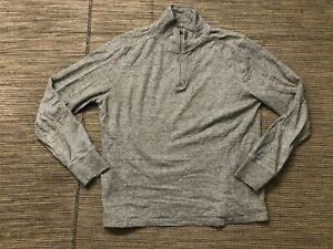 J Crew Adult Mens Medium Double Knit Half Zip Pullover F8147