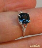 1.95 ct LONDON BLUE TOPAZ SILVER RING