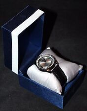 Jaclyn Smith  Black Round Bezel w/  Crystals Stones Wristwatch Watch