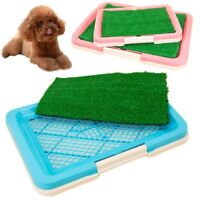 2Size Puppy Potty Trainer Indoor Training Toilet Pet Dog Grass Pad Pee Mat-Patch