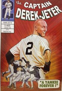 Baseball Print 12x18 in Derek Jeter A Yankee Forever Brian Kong NYCC 2014 nyy