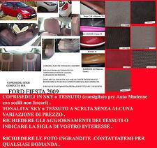 FORD FIESTA 2009 COPRISEDILI SERIE COMPLETA TONALITA' A SCELTA (NP 2.06-4.07)