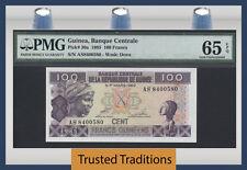 TT PK 30a 1985 GUINEA 100 FRANCS PMG 65 EPQ GEM UNCIRCULATED POPULATION 1