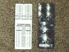 2014 Oakland Raiders NFL plastic card w 2 keytags [Bud Light] football schedule