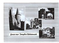 uralte AK Templin Uckermark Pulverturm Berliner Tor Schultor 1967 //29