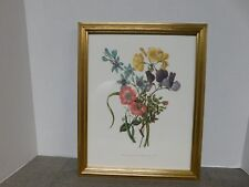 Framed Bouquet of Flowers Mary Lawrence  Reproduction Print