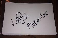 LAYLA ANNA LEE firmato 6X4 CARTA BIANCA TV Autograph Sports Presenter & MUNCH BOX