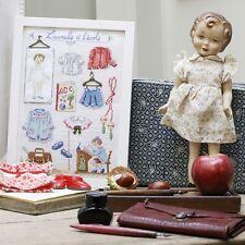French Cross Stitch Semi Kit  Laurette's Story  Laurette apprend