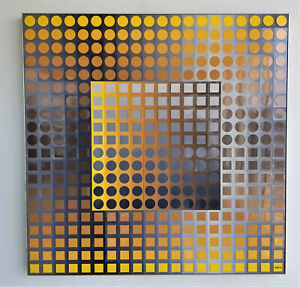 Vasarely Planetary Folklore Participations No2 Gold multiple 800 pieces plastic