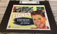 LIONEL retro style METAL SIGN 1948 unused MOC lithographed steel Locomotive Boy
