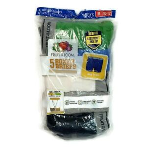 Fruit Of The Loom Boys 5 Pack Boxer Briefs Tag Free Size M 10-12 Mid-Leg Length