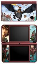 VINYL SKIN STICKER FOR NINTENDO DSI XL - REF HOW TO TRAIN YOUR DRAGON