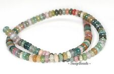 SANCTUARY INDIAN AGATE GEMSTONE RONDELLE 6X4MM LOOSE BEADS 15.5""