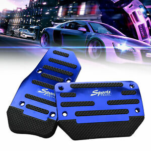 3 Pcs BORDAN Accelerator Gas and Brake Pedal Cover Set Stainless Steel Aluminum Performance Foot Pedal Anti-Slip Replacement Pedal Pad Fit for 2017-2019 Ford Raptor Models