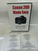 Canon EOS 20D Made Easy Training Video Tutorial DVD 2 Disc Set