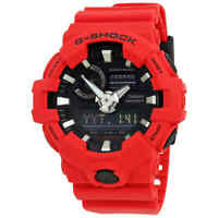Casio G-Shock Red Resin Men's Watch GA-700-4ACR
