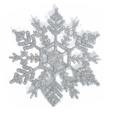 Christmas Tree Decoration Pack of 12 - Snowflakes. Xmas Garland Star Snowflake