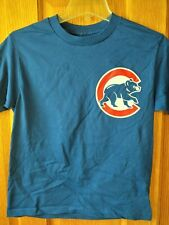 Chicago Cubs Youth Boys Medium Short Sleeve Blue T-Shirt - NEW